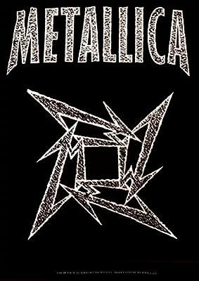 Metallica - Póster de Estrella Ninja Tela de música: Amazon ...