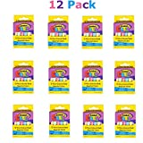 Kicko Chalk Bulk Pack 144 Pcs, Each Pack Includes 12 Pcs. - Cool and Fun Assorted Chalk Set - Great Party Favor, Party Bag Stuffer,, Novelty Toys