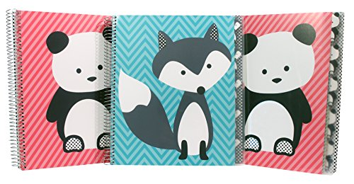Studio C Hair of the Dog Five Subject Writing Notebook, 3 Pack (37081) by Studio C
