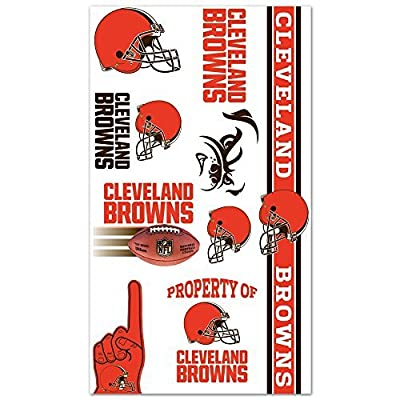 Temporary Tattoos - Cleveland Browns : Sports Related Tailgating Fan Packs : Sports & Outdoors [5Bkhe0408274]