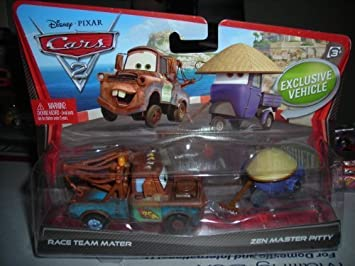 DISNEY PIXAR CARS 2 RACE TEAM MATER ZEN MASTER PITTY ...