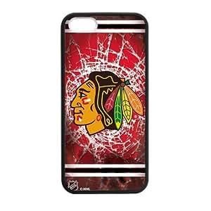 CTSLR Laser Technology NHL Chicago Blackhawks PC Skin for For HTC One M7 Phone Case Cover - 1 Pack - Black - 3