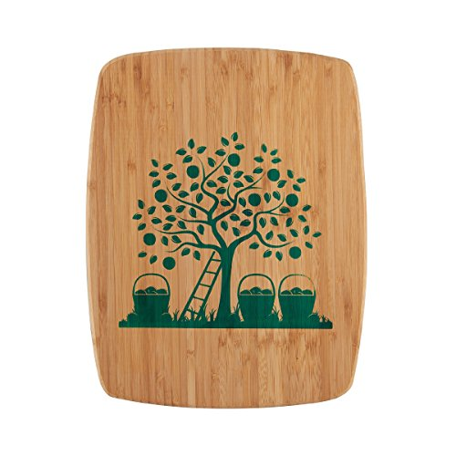mboo Board With Silk Screen Tree Image, 11