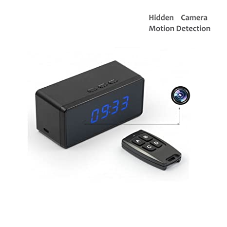 Oumeiou Motion Detection Full HD Spy Camera Reloj digital de ...
