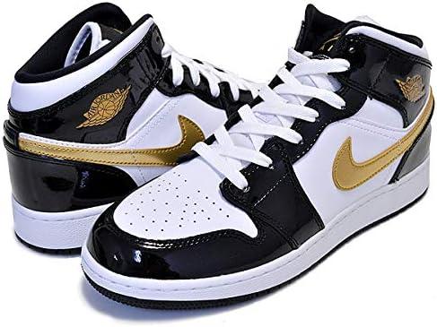 Nike Air Jordan Retro I 1 Mid SE Black Metallic Gold White GS BQ6931-007