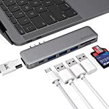 dodocool USB C Hub Adapter for MacBook Air 2018, MacBook Pro 2018/2017/2016, Dual Type C Hub with 4K HDMI, SD/TF Card Reader, 100W Power Delivery, 40Gbps Thunderbolt 3 and 3 USB 3.0 Ports (Space Gray)