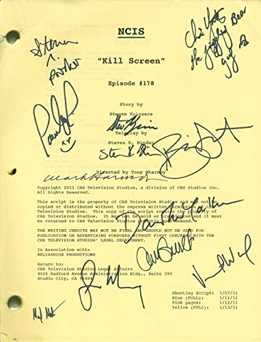 Ncis TV Cast – Script Signed with co-signers