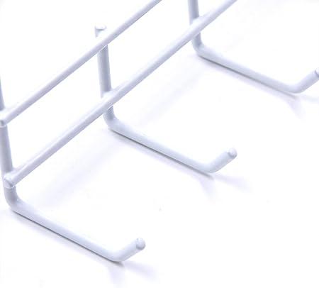 ANZOME - Ganchos para Panel de Rejilla Blanca, Gancho para Rejilla, Panel de Ganchos de Pantalla de 2,56 Pulgadas y 2,7 Inches