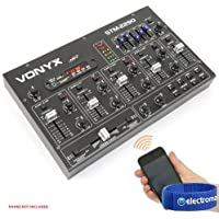 Vonyx STM2290 Sound Effects Bluetooth Wireless Audio DJ PA Mixer 8-Channel SD USB MP3