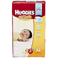 Huggies Little Snugglers Diapers, Size 2 (12-18 lb, 5-8 kg), 32-count