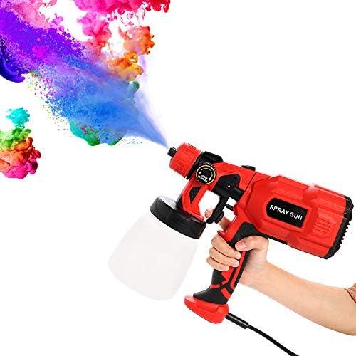 chollos oferta descuentos barato Pistola de Pintura 550W Pistola de Pulverizacion Pintura Eléctrica Máximo de 800ml min Compresor Pintura y Pistola 3 Modos de Pintura Fácil de Desmontar y Limpiar
