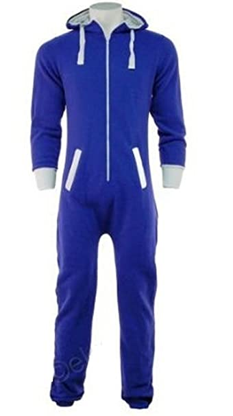 Fashion Oasis - Pijama de una Pieza - para Hombre Royal Blue Plain XXXL