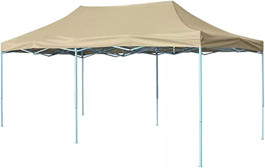vidaXL Carpa de Fiesta Jardín Plegable Pop-Up Acero Tela Crema 3x6 m Cenador: Amazon.es: Jardín