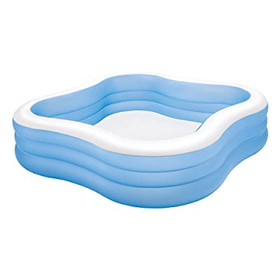 """Intex Swim Center Family Inflatable Pool, 90"""" X 90"""" X 22"""", for Ages 6+, Color may vary: Toys & Games"""