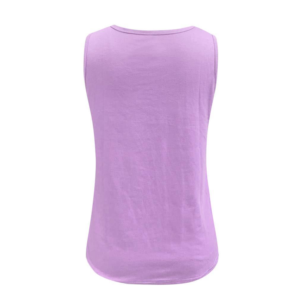 MEIbax Estampado de Estrellas Camiseta sin Mangas de Mujer Chaleco de Verano de Las se/ñoras Moda Mujer Camisa Suelta Tank Tops Blusas Camisetas de Tirantes Deportiva para Mujer Yoga