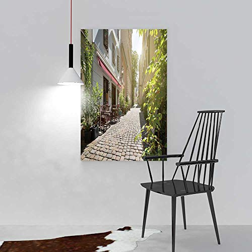 aolankaili Modern Wall Art Decor Frameless Alley at spittelberg Old Town Vienna Austria for Home Print Decor for Living Room W36 x H48