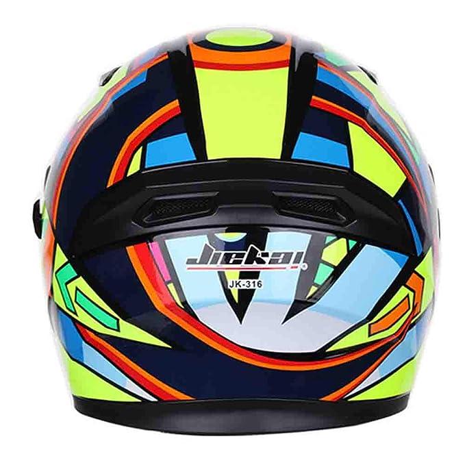 Casco moto universale a doppia lente da uomo casco da moto invernale a prova di vento caldo per quattro stagioni 57-64cm