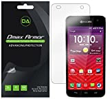 [6-Pack] Dmax Armor- Kyocera Hydro Vibe Screen Protector Anti-Bubble High Definition Clear Shield - Lifetime Replacements Warranty- Retail Packaging