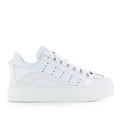 DSQUARED2 HOMME SNM0003065000011062 BLANC CUIR BASKETS amFfoz3S