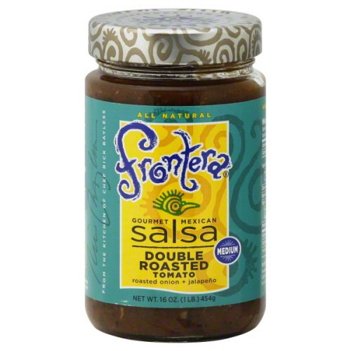 Frontera Foods Inc. Salsa, Med Dbl Rst Tomato, 16-Ounce (Pack of 6)
