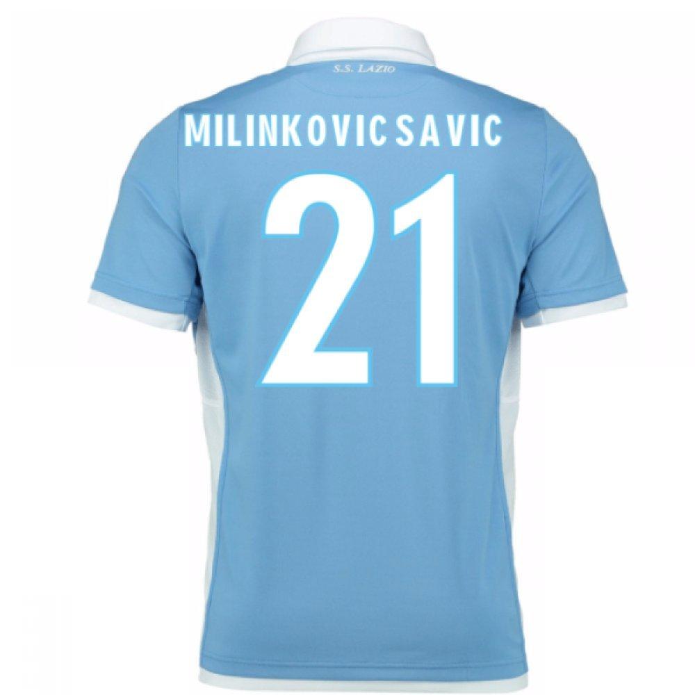 2016-17 Lazio Home Football Soccer T-Shirt Trikot (Sergej Milinkovic-Savic 21)
