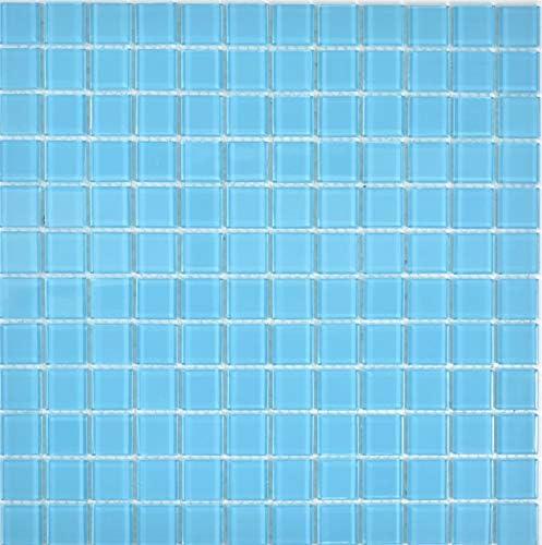Mosaik Crystal Carrelage De Mosaique Pour Salle De Bain Bleu Clair