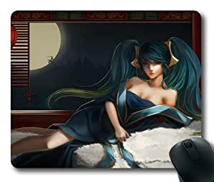 Customizablestyle League of Legends Sona-2 Mousepad, Customized Rectangle DIY Mouse Pad