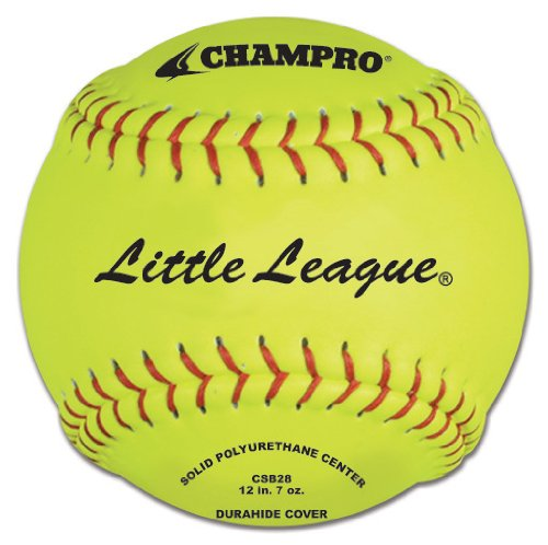 Champro Little League Poly Synthetic Cover, Red Set (Optic Yellow, 12-Inch) by CHAMPRO