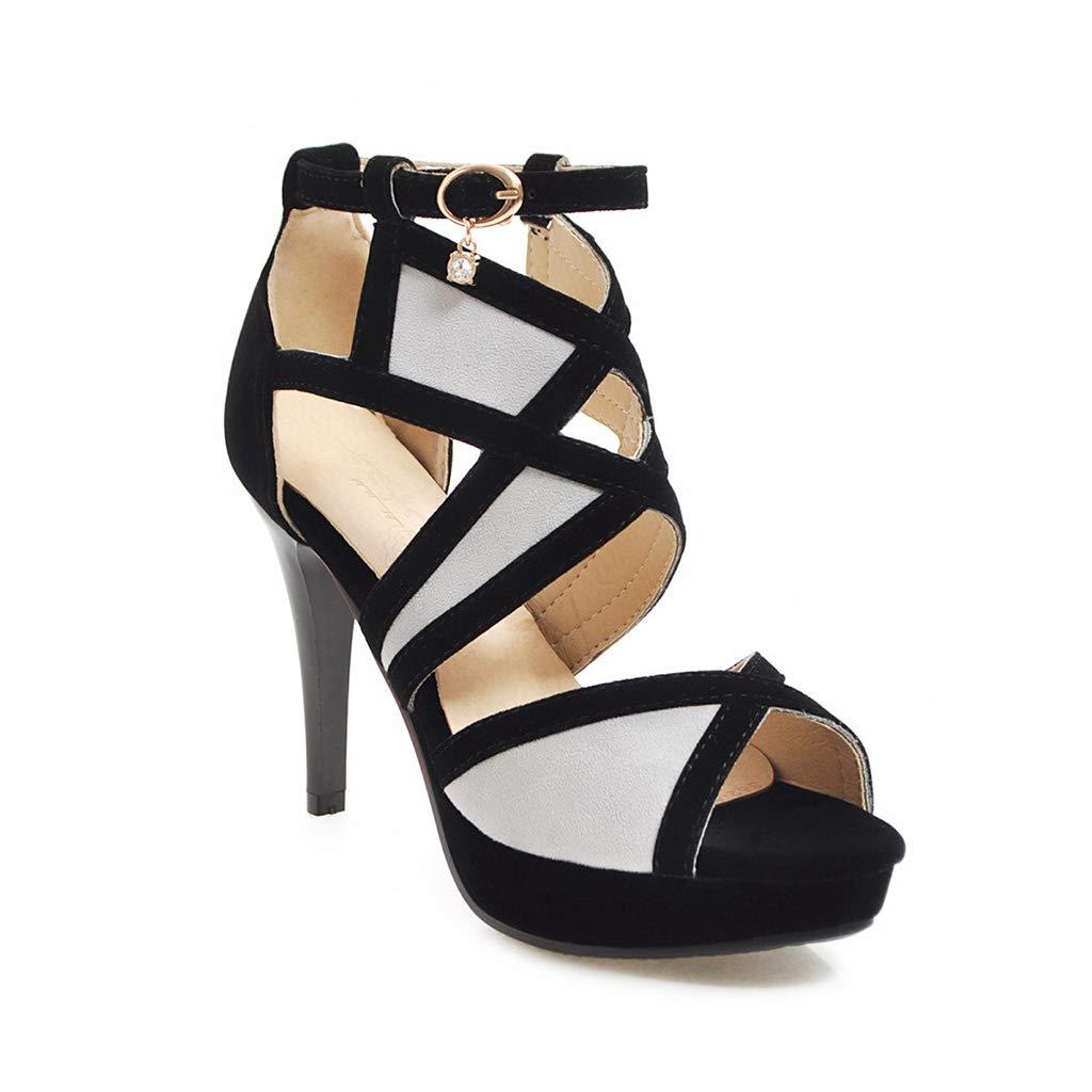 Chaussures pour Femmes, Sandales à Talons Hauts et Talons Aiguilles pour Femmes Sandales Confortables à Talons Hauts pour Femmes,37
