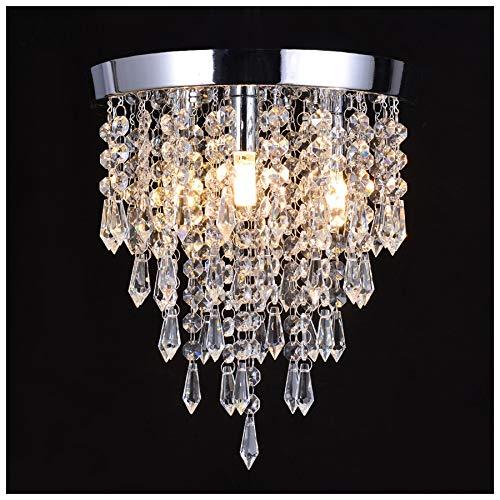 (Crystal Ceiling Light, Chandelier Pendeant Light Lamp LED 1-Piece 3 Light G9 Pendant Lamp Lighting Fixture for Dining, Room Bedroom, Hallway, Bar, Kitchen, Bathroom)