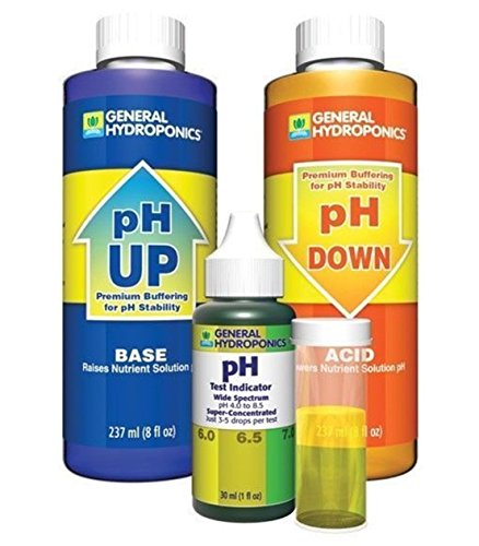 1-Set Outstanding Popular GH pH Control Adjustment Combo Hydroponics Tool Acid Alkaline Up and Down Volume 8 oz with 1 oz Indicator