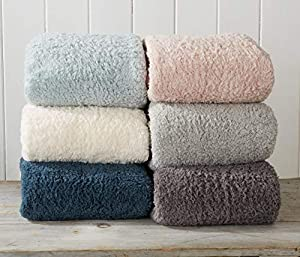 Great Bay Home Ultra Soft, Cozy Sherpa Stretch Knitted Bed Blanket. Lightweight, Elegant, Chic Blanket for Sleeping. from Great Bay Home