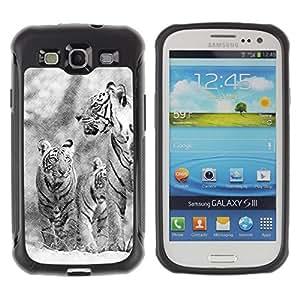 Suave TPU GEL Carcasa Funda Silicona Blando Estuche Caso de protección (para) Samsung Galaxy S3 III I9300 / CECELL Phone case / / Snow Tiger Winter Christmas Nature /