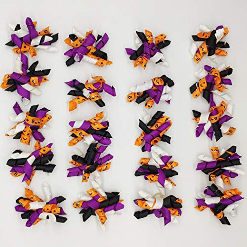 Hixixi 20pcs/Pack Halloween Pet Dog Cat Hair Bows Puppy Grooming Bows Hair Accessories with Rubber Bands -