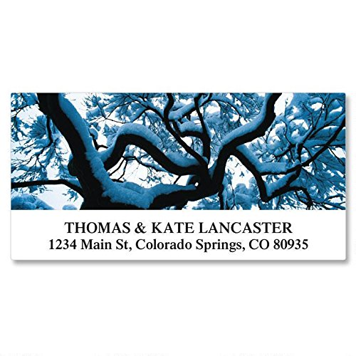 Seasons of Trees Self-Adhesive, Flat-Sheet Deluxe Address Labels (12 Designs)