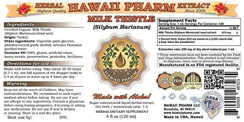 Milk Thistle (Silybum marianum) Liquid Extract 4x4 Oz by HawaiiPharm (Image #1)