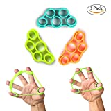 HHH's Finger Stretcher Hand Resistance Bands Hand Extensor Exerciser Finger Grip Strengthener Strength Trainer Gripper set for Arthritis Carpal Tunnel Exercise Guitar and Rock Climbing 3pcs Review