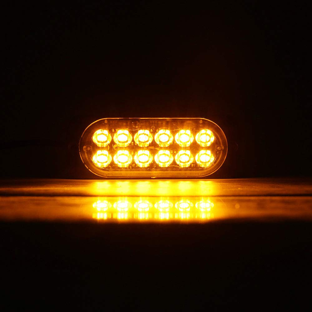 Automobiles & Motorcycles Humble 4 Car Truck White Amber Warning Emergency Beacon 6 Leds Flash Strobe Light Screw