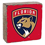 """Rustic Marlin Designs NHL Florida Panthers, Team Colors Background, Team Logo Block, 6"""" x 6"""" x 2"""""""