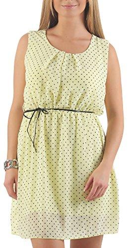 malito Vestido con Puntos Verano Vestido 1161 Mujer Talla Ùnica amarillo