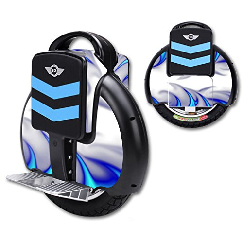 MightySkins Protective Vinyl Skin Decal for TG-F3 Self Balancing one Wheel Electric Unicycle Scooter wrap Cover Sticker Blue Fire