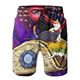 Men's Space Taco Laser Cat Quick-drying Summer Swim Trunks Short Beach Pant