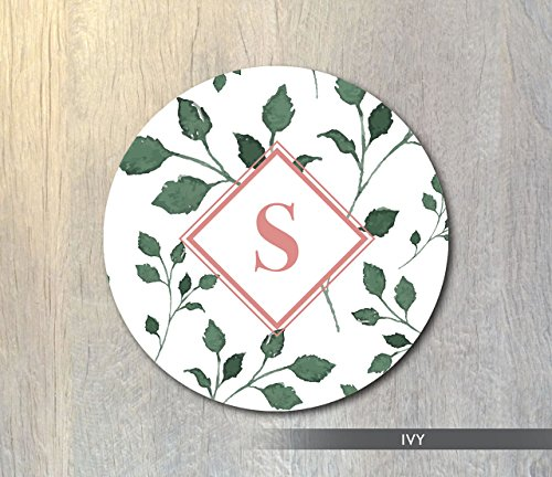 Natures Monogram - Monogram Mouse Pad Floral Nature Monogram Mouse Pad Botanical Flower Mouse Pad Floral Mouse Pad Custom Computer or Office Decor Gift for Her