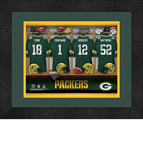 Greenbay Packers Team Locker Room Personalized Jersey Officially Licensed NFL Sports Photo 11 x 14 Print ()