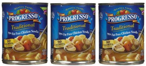 Progresso 99% Fat Free Chicken Noodle Soup, 19 oz, 3 pk (Progresso 99% Fat)