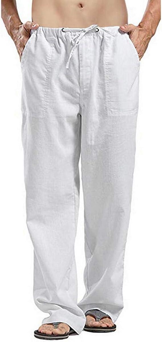 Overdose Pantalones De Lino Hombre Sección Delgada ...