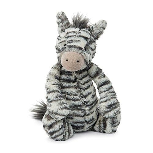 Jellycat Bashful Zebra Stuffed Animal, Medium, 12 - Cat Zebra