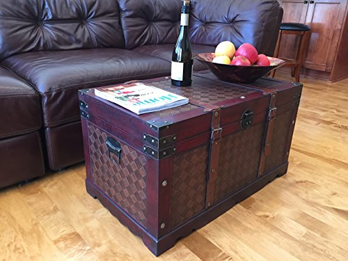 Styled Shopping Brooklyn Park Large Wood Storage Trunk Wooden Treasure Chest ()