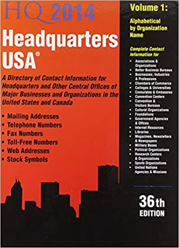 Headquarters USA 2014: A Directory of Contact Information for
