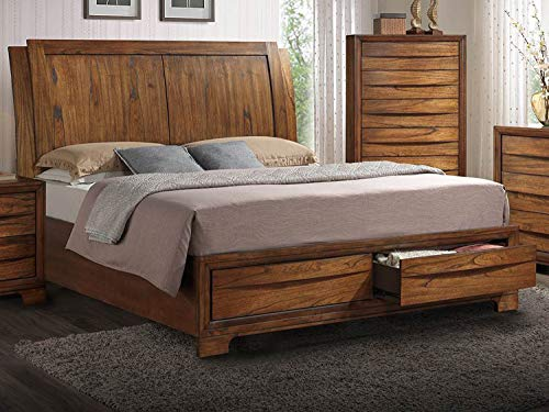 Sunset Trading SS-BJ600-Q-BED Sonoma Storage Queen Bed, Warm Chestnut